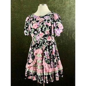 VTG🌈Lolita cottagecore ruffled floral dress